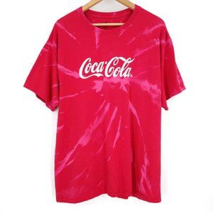 Coca Cola Custom Bleach Tie Dye Retro T-Shirt XL